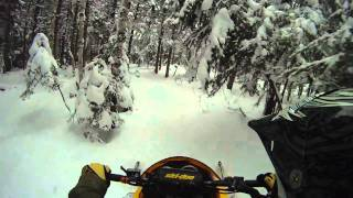 8. Ski Doo REV MXZ X-RS 800 Powder Jumps & Forest Trail Ride