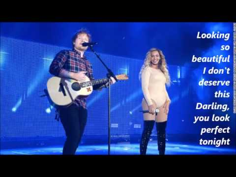 Ed Sheeran - Perfect Duet (with Beyonce) lyrics (видео)