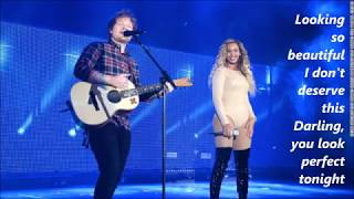 Video Ed Sheeran - Perfect Duet (with Beyonce) lyrics MP3, 3GP, MP4, WEBM, AVI, FLV Juli 2018
