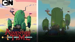 Check out this awesome side-by-side of the Adventure Time intro and the super detailed Adventure Time Minecraft pack!Wanna see JUST how much alike the two different versions of Ooo really are? Grab yourself a copy of the Adventure Time Minecraft pack - available on PC, Console and PE!ADVENTURE TIME MINECRAFT POCKET EDITION: http://bit.ly/2qBeixcCN GAMES: http://bit.ly/CNGamesSUBSCRIBE: http://bit.ly/109Y6wqWATCH MORE: http://bit.ly/CNAdventureTimeAbout Adventure Time:Unlikely heroes Finn (a silly kid with an awesome hat) & Jake (a brassy dog with a big kind heart), are the best of friends and always find themselves in the middle of heart pounding escapades as they traverse the mystical Land of Ooo.Adventure Time Games: http://bit.ly/QrgpssAdventure Time on Facebook: http://on.fb.me/YApNfoAbout Cartoon Network:Welcome to the Cartoon Network YouTube Channel, the destination for all of your favorite cartoons and videos. Watch clips from shows like Teen Titans Go!, Steven Universe, Clarence, Adventure Time, Uncle Grandpa, The Amazing World of Gumball and more!Connect with Cartoon Network Online:Visit Cartoon Network WEBSITE: http://bit.ly/90omi9Like Cartoon Network on FACEBOOK: http://on.fb.me/SULxhQFollow Cartoon Network on TWITTER: http://bit.ly/XqeBXfFollow Cartoon network on TUMBLR: http://bit.ly/1B3nUQFAdventure Time  Show Intro - Minecraft Style!  Cartoon Networkhttps://youtu.be/EmYZmmnqTr8