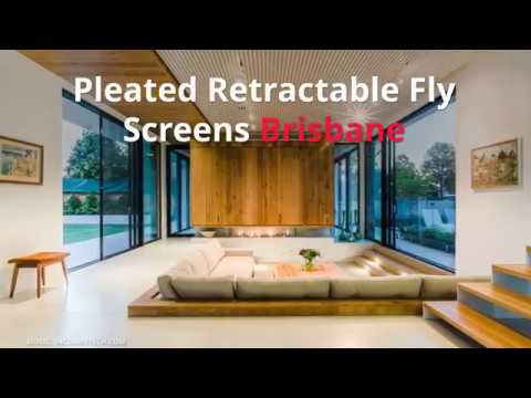 Pleated Retractable Fly Screens Brisbane