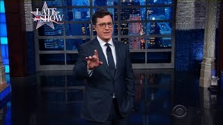 Stephen Colbert Sees Latest Trump Controversy as Nothing Short of a Golden Opportunity