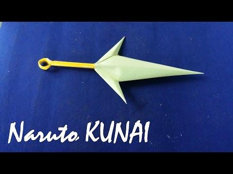 Làm dao Kunai của Naruto bằng Giấy