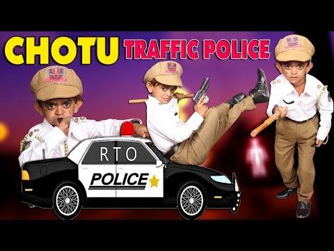 CHOTU KI TRAFFIC POLICE | छोटू छोटू की ट्रैफिक पुलिस | Khandesh Hindi Comedy | Chotu Comedy Video