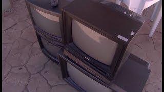 Ação recolhe televisores antigos que não vão funcionar mais com o desligamento do sinal analógico
