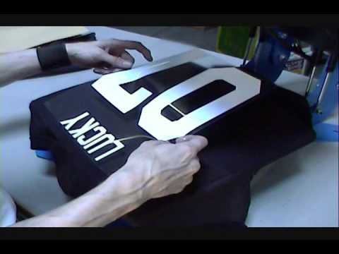 Heat Transfer Tee Shirts With Names & Numbers