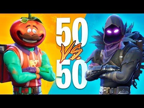 EPIC 50v50 FIGHTS!! (Fortnite Battle Royale) (видео)