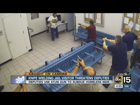 homeless woman jail - MCSO uses stun gun to subdue knife-wielding homeless man at Fourth Avenue Jail.