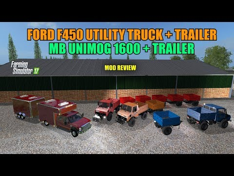 MB Unimog 1600 + Trailer (Tanker seeders) v1.0