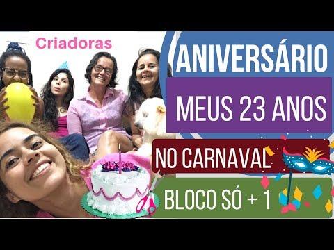 Msg de aniversário - Meu Aniversário Vlog BLOCO SÓ MAIS UM Batatais   SP Alana Santos Blogger