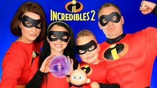 Video Disney Pixar Incredibles 2 Mr. Incredible, Elastigirl, Violet, Dash, Jack Jack Makeup and Costumes! MP3, 3GP, MP4, WEBM, AVI, FLV September 2018
