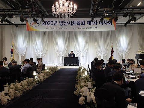 민선 1기 양산시체육회 1차 이사회영상