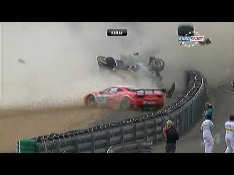 Aparatoso acidente Le Mans