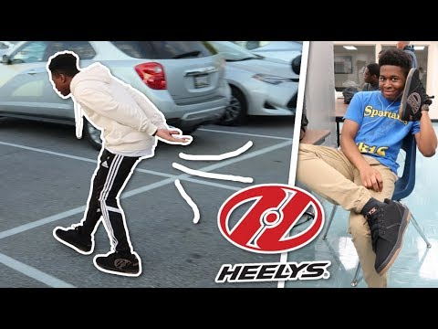 WEARING HEELYS ON THE FIRST DAY OF SCHOOL!