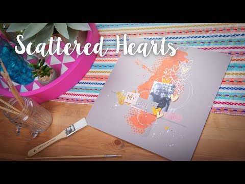 How to Make Scrapbook with Scattered Hearts - Sizzix Lifestyle