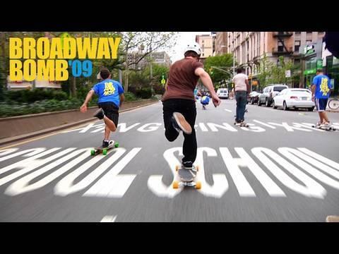 Broadway Bomb Race 2009: Longboarding NYC