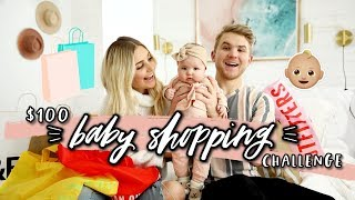 $100 BABY SHOPPING CHALLENGE! Husband vs Wife Again! | Aspyn Ovard by Aspyn Ovard