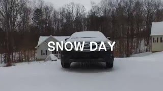 Flying the drone around after having some snow. Music by audionautix.com.