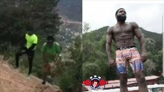 This is serious business! Broner in the mountains training like Rocky for Ivan Drago