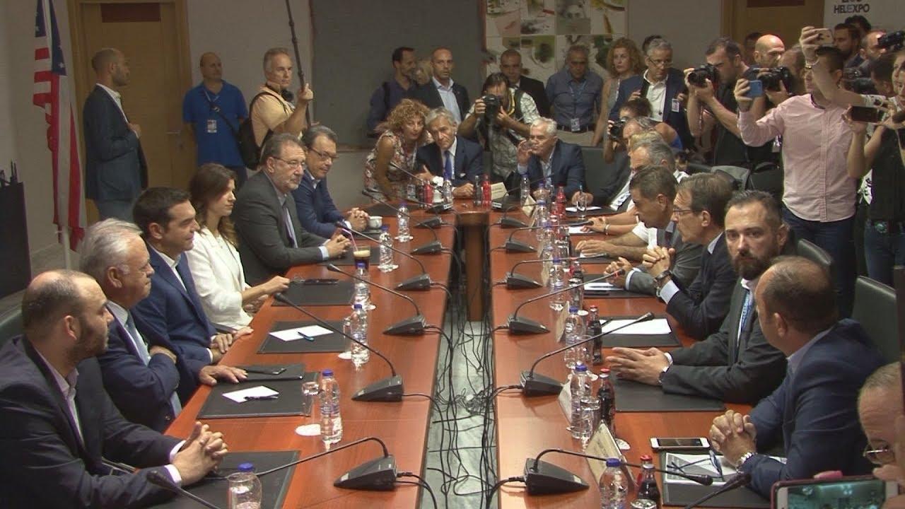 Συνάντηση του πρωθυπουργού Α. Τσίπρα με τη διοίκηση και εργαζομένους της ΔΕΘ-Helexpo