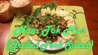 Thai Food - Nam Tok Moo (Grilled Pork Salad)