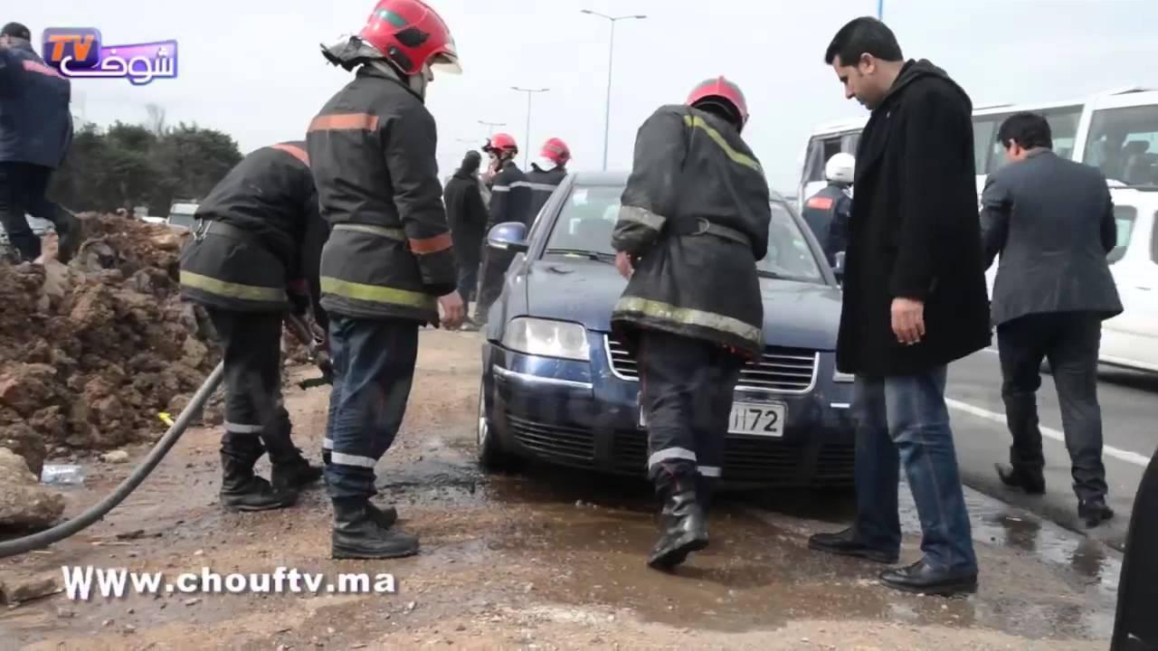 حادثة سير خطيرة لرجال الأمن في بالدار البيضاء | خارج البلاطو