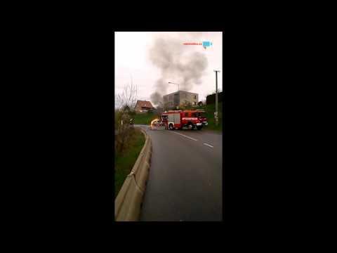 Požár vozidla ve Statenicích (Černý Vůl)