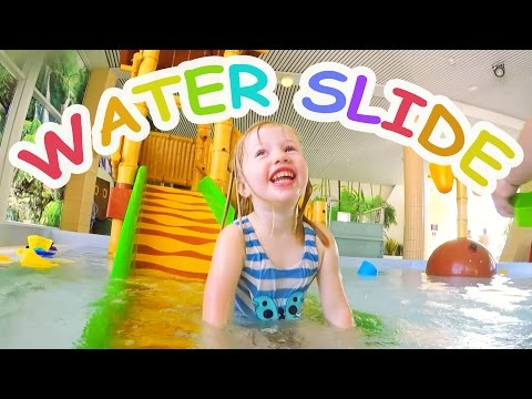 Water Slides for Kids with Spelling - Indoor Family Water Park Fun