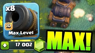 Video NEW TROOP GEMMED TO MAX LEVEL IN CLASH OF CLANS BUILDERS HALL!! - Level 10 Cannon Cart! MP3, 3GP, MP4, WEBM, AVI, FLV Oktober 2017