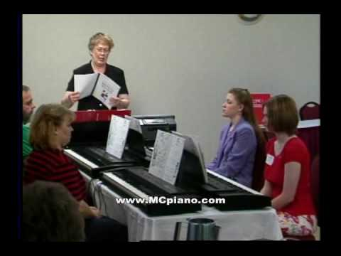 Group Pianotraining Seminar Clip With The Mayron Cole Piano Method