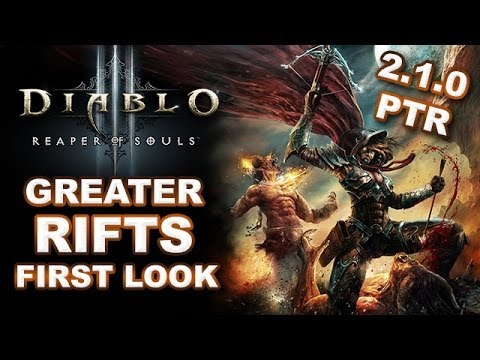 Diablo 3 RoS: Greater Rifts Gameplay First Look - Patch 2.1.0 PTR