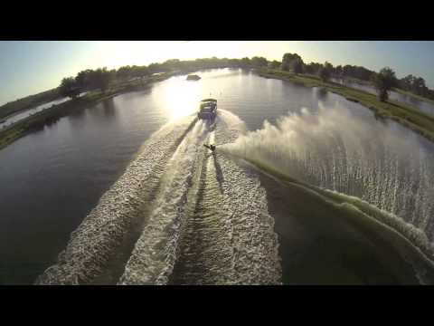 Jaret Bull - GoPro Water Skiing. (SlowMotion Ariel Footage) @ Sunset Lakes.