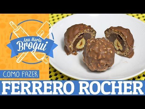 Receitas Doces - COMO FAZER FERRERO ROCHER  Ana Maria Brogui #39