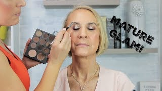 Video Makeup on Mature Skin | Glam in your 60's! | Makeover on a Client MP3, 3GP, MP4, WEBM, AVI, FLV Juli 2019