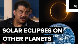Earth is uniquely situated in the solar system so it can have a total solar eclipse. There are other planets that have solar eclipses, but earth is the only solid planet where you can view a total solar eclipse. Neil deGrasse Tyson sat down with Meteorologist Joe Rao to discuss more about this earthly phenomena.Listen to the full StarTalk podcast here: http://bit.ly/2v9D9pfStarTalk on Mashable is a video series, produced by Mashable and StarTalk Radio. StarTalk Radio is a podcast and radio program hosted by astrophysicist Neil deGrasse Tyson.StarTalk Radio on Twitter: https://twitter.com/StarTalkRadioStarTalk Radio on YouTube: https://www.youtube.com/user/startalkradio