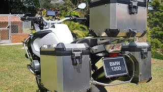 7. 2014 BMW R 1200 GS Adventure Aluminum Luggage System and Inner Bags