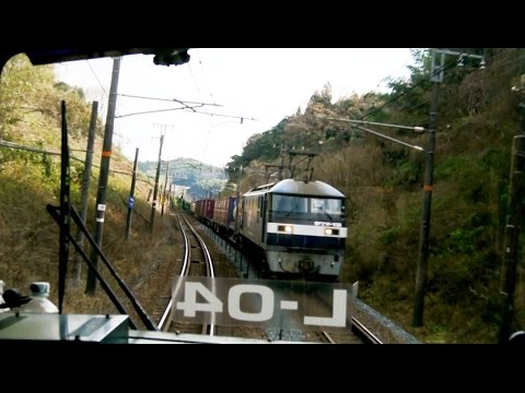 JR San'yō Main Line driver's view from Tokuyama to Iwakuni in Japan (видео)