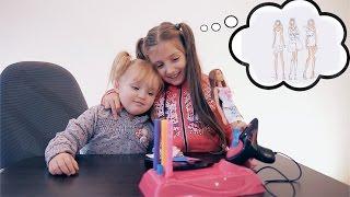 Barbie Airbrush Designer Лиза с Лилей купили фабрику раскраски нарядов для Барби