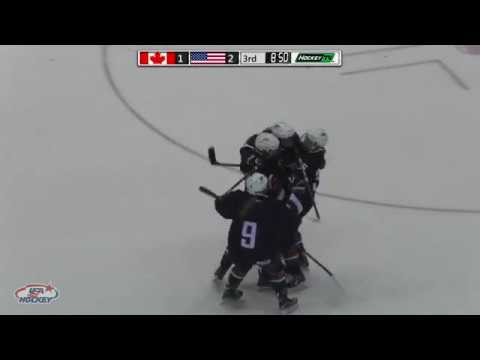 2017 U18 Series | Game Three Highlights: USA 3, Canada 1
