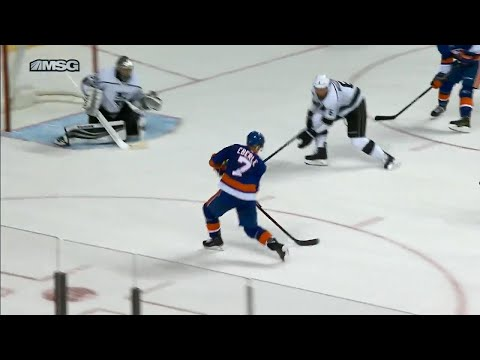 Video: Islanders' Eberle scores top shelf in overtime against Kings