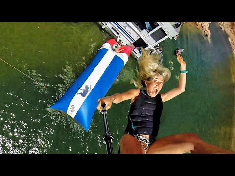 Human Water Catapult – 55 Foot Launch! In 4k  – Viral Video