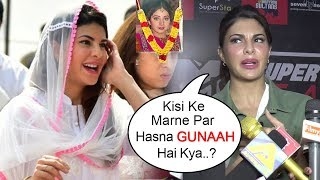 Video Jacqueline Fernandez's SHOCKING Reply On Laughing While Attending Sridevi PASSING AWAY MP3, 3GP, MP4, WEBM, AVI, FLV Mei 2018