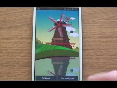 Video of Windmill and Pond wallpaper
