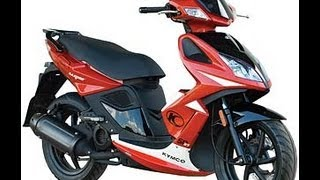 7. KYMCO SUPER 8 50 2T RED 49cc Scooter