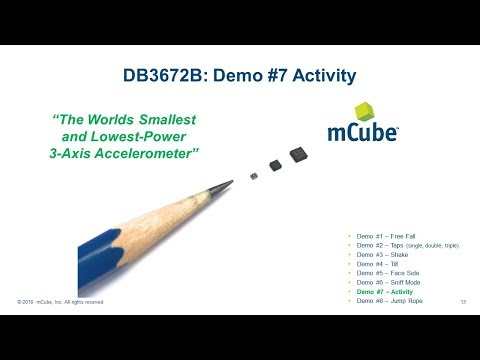 DB3672B Demo #7 Activity Detect