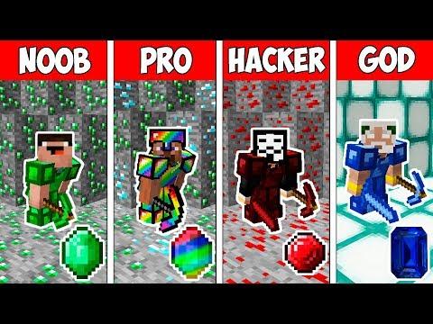 Minecraft NOOB vs PRO vs HACKER vs GOD : SECRET EMERALD CHALLENGE in Minecraft - Animation