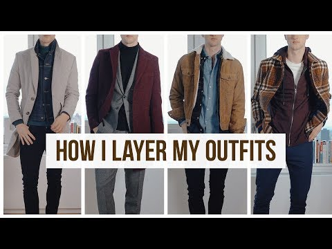 Layering Fall/Winter Men's Outfits | Men's Fashion | Outfit Ideas