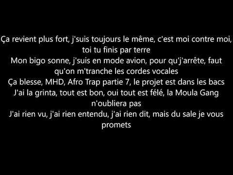 MHD - afro trap part7 ( la puissance) parole/lyrics