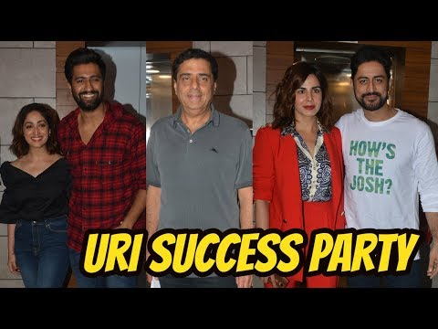 Vicky Kaushal, Yami Gautam, Mohit Raina, Kirti Kulhari | Success Party Of Film URI With Whole Team