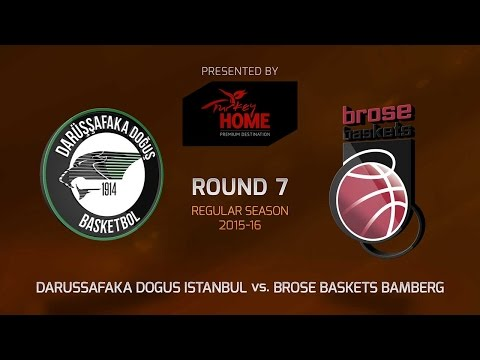 Highlights: RS Round 7, Darussafaka Dogus Istanbul 54-65 Brose Baskets Bamberg
